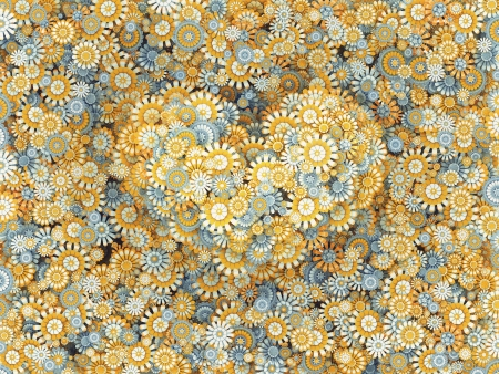 ox eye daisy: Heart valentine from yellow chamomile flowers, letter shape Stock Photo