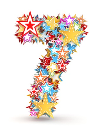 chads: Number 7, from bright colored holiday stars staked