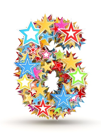 chads: Number 6, from bright colored holiday stars staked