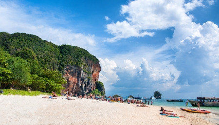 Tropical sea beach view,Thailand Ao Nang photo
