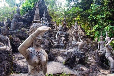 koh: Tanim magic Buddha garden, Koh Samui island, Thailand Stock Photo
