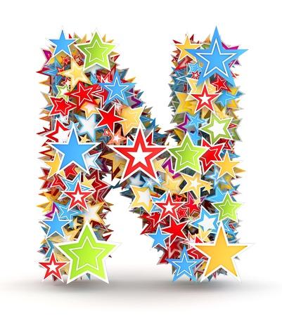 yıldız: Harf N, parlak renkli tatil yıldızlardan bahis
