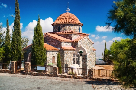 Stravovanie temple  on the mountain, Larnaca Cyprus photo