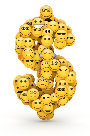 compiled: Dollar sign  compiled from Emoticons smiles with different emotions