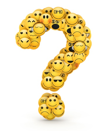 compiled: Question mark  compiled from Emoticons smiles with different emotions
