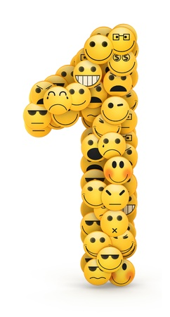 compiled: Number 1 compiled from Emoticons smiles with different emotions