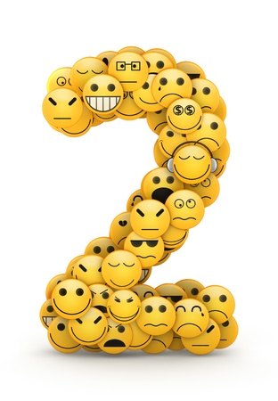 compiled: Number 2 compiled from Emoticons smiles with different emotions