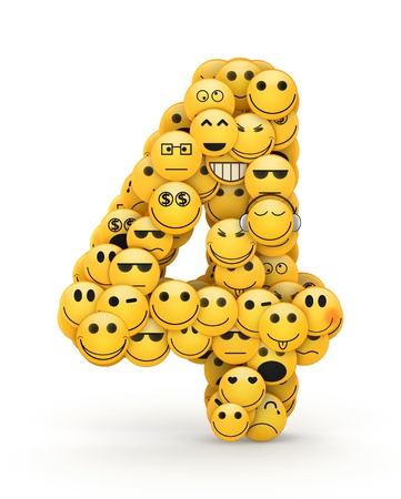 compiled: Number 4 compiled from Emoticons smiles with different emotions