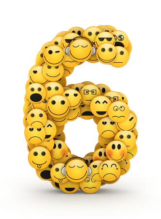 compiled: Number 6 compiled from Emoticons smiles with different emotions