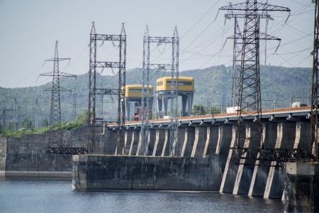 ロシアのダム発電 Tolliatty 市近郊