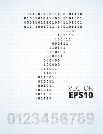 listing: N�mero 0-9, fuente de listado de c�digo binario, todos los d�gitos