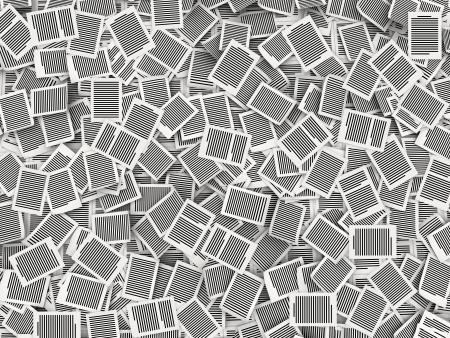 burocracia: P�ginas de papel de fundo, as barreiras da burocracia e papelada conceito Muitos