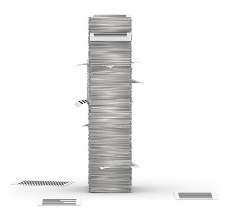 bureaucratism: Letter I, from stacks of paper pages font