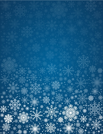 copyspace: Blue background letter size with snowflakes and copyspace, vector pattern