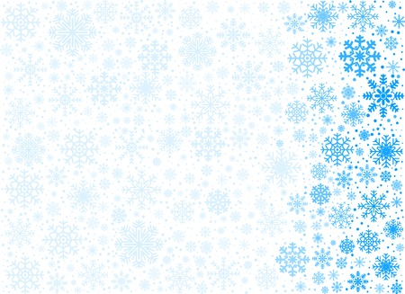 copyspace: Background maked from vector frosty snowflakes, with copyspace