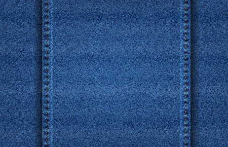 Vector jeans denim texture background with two vertical  stitch Stock Vector - 24121832