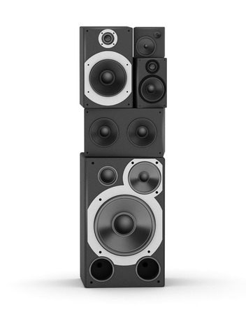 hifi: Letter I  from black hi-fi speakers sound systems