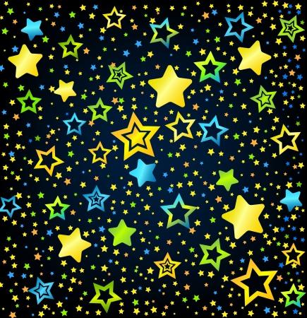 lullaby: Fuente vectorial estilo del ni�o de la historieta con las estrellas de fondo de color Vectores
