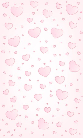 vector hearts: Valentine card hearts vector illustration background legal size