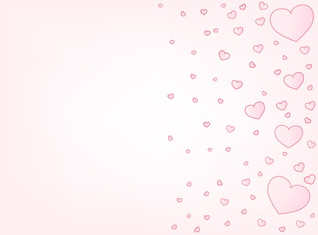 copyspace: Valentine hearts letter card vector illustration background with copyspace left Illustration
