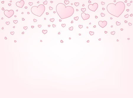 copyspace: Valentine hearts letter card vector illustration background with copyspace bottom
