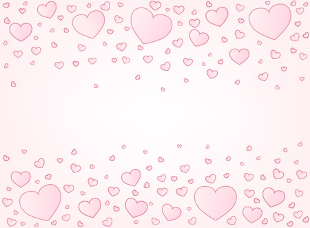 vector hearts: Valentine card hearts vector illustration background with copyspace
