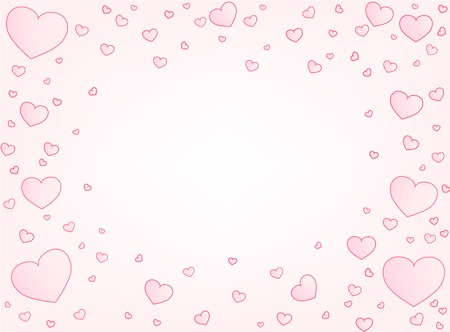 copy center: Valentine hearts letter card vector illustration background with copy space center Illustration