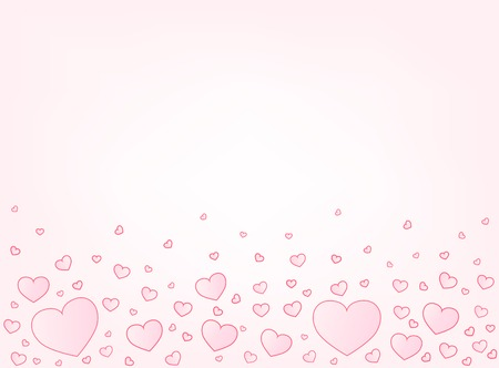 copyspace: Valentine hearts letter card vector illustration background with copyspace top