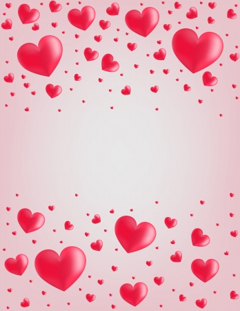 vector hearts: Valentine card hearts vector illustration background vertical with copy space