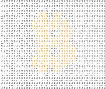 listing: Bitcoin s�mbolo de moneda de oro encriptado en el listado de c�digo binario