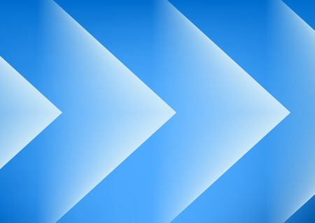 Abstract blue arrows background for presentation Vector