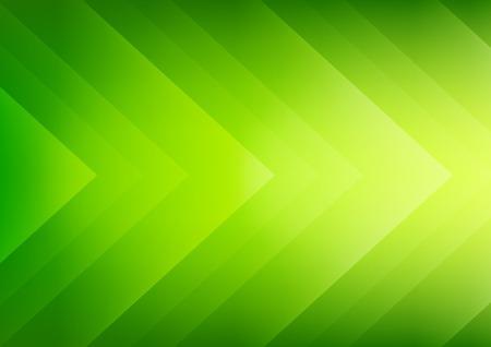 プレゼンテーションの緑色のエコロジー テーマ矢印背景を抽象化します。