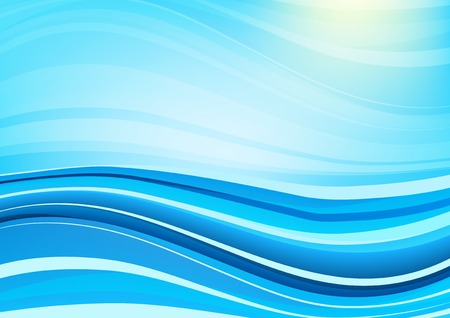 psy: Blue style modern futuristic vector background with abstract waves
