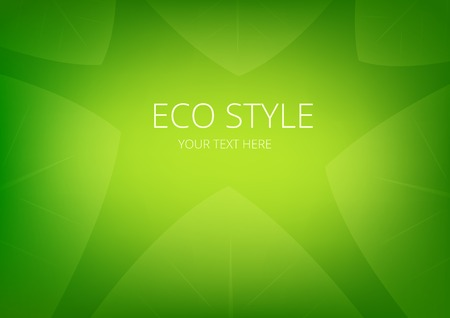 Abstract green ecology theme leaves background for presentation Vector