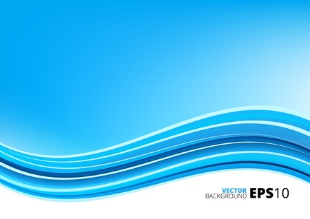 Blue clean modern package vector background with abstract waves Vector