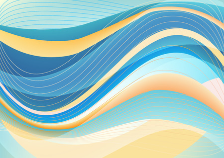 elegantly: Blue clean modern package vector background with abstract waves
