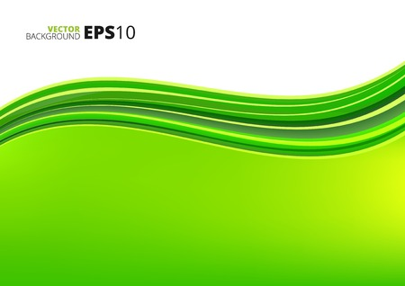 elegantly: Green clean ecology background with abstract waves