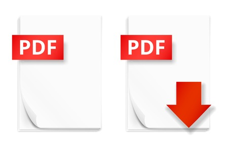 pdf: PDF icons of stack of paper sheets and download button