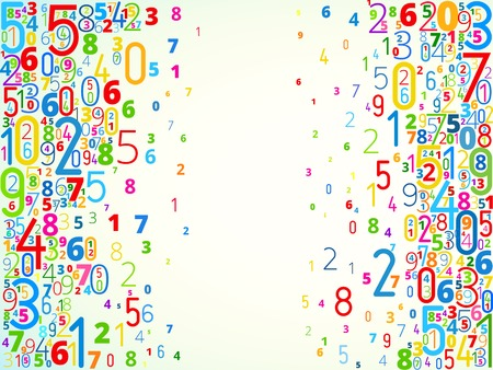 Vector number background
