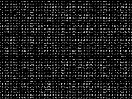 Blink binary code screen listing table on black background