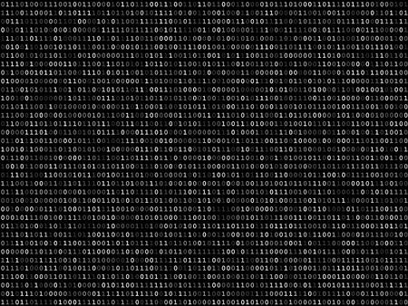 listing: Blink mesa lista en pantalla el c�digo binario en el fondo negro