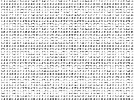 algorithm: Sheet of binary codes listing background texture