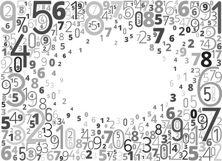 educational material: Black numbers background with copy space Illustration