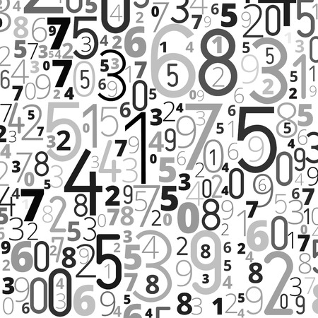 gray black numbers background