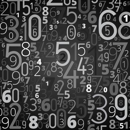 jumbled: numbers background