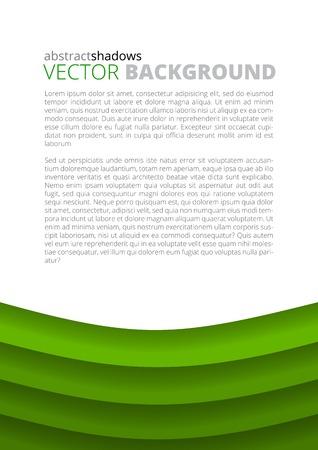 advertisment: Green paper round sheets design illustration Illustration
