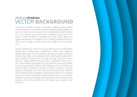paper sheets: Colorful blue round paper sheets background a4 size with copyspace