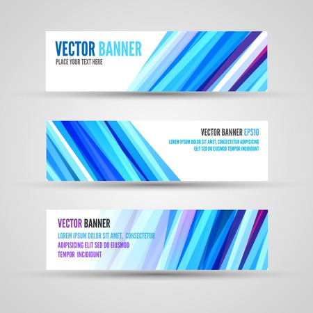 ocean background: Banners template of blue clean ocean background with abstract lines