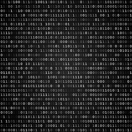 トゥインクル バイナリ コード画面が黒の背景上のテーブルを表示