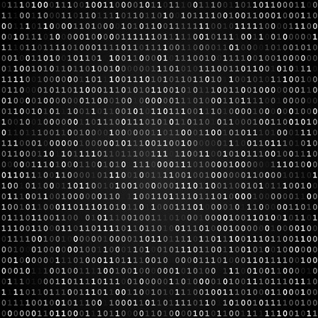 number code: Twinkle binary code screen listing table on black background